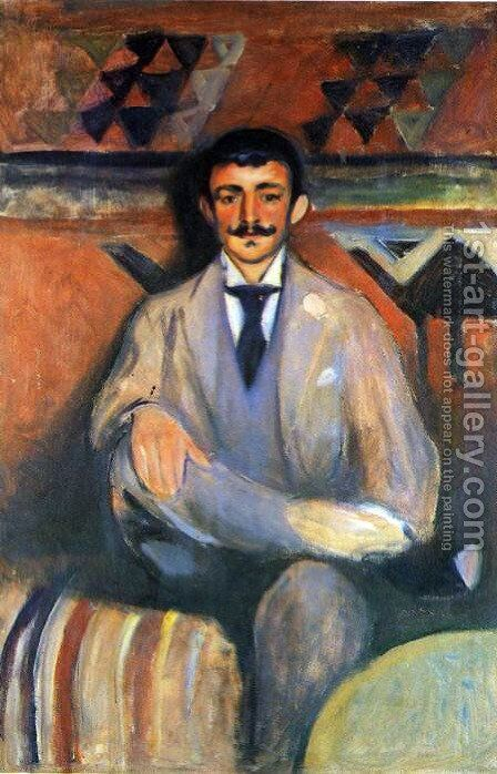 The Painter Jacob Bratland by Edvard Munch - Reproduction Oil Painting