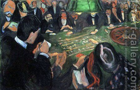 The Roulette by Edvard Munch - Reproduction Oil Painting