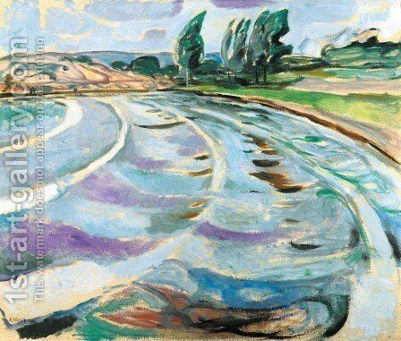 The Wave by Edvard Munch - Reproduction Oil Painting