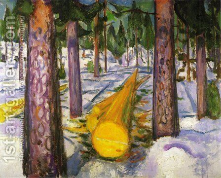The Yellow Log by Edvard Munch - Reproduction Oil Painting