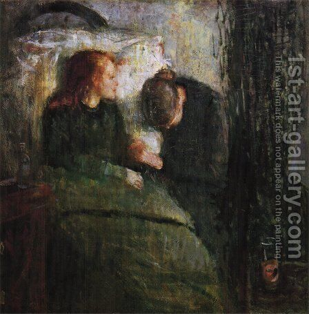 The sick child 1885-86 by Edvard Munch - Reproduction Oil Painting
