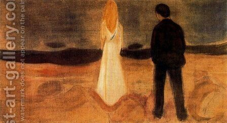 The solitary ones by Edvard Munch - Reproduction Oil Painting