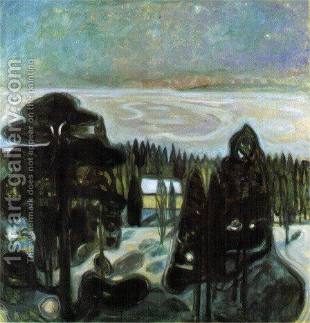 White Night by Edvard Munch - Reproduction Oil Painting