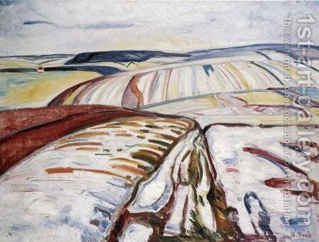 Winter Landscape, Elgersburg by Edvard Munch - Reproduction Oil Painting