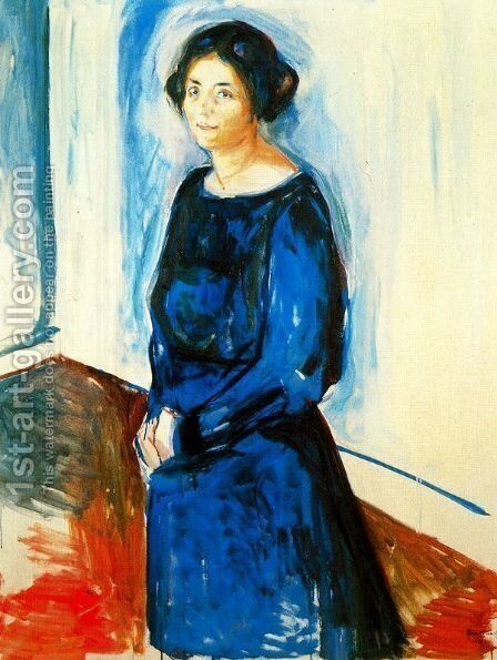 Woman in Blue (Frau Barth) by Edvard Munch - Reproduction Oil Painting