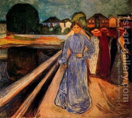 Women on the Bridge by Edvard Munch - Reproduction Oil Painting