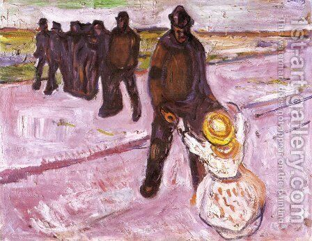 Worker and Child by Edvard Munch - Reproduction Oil Painting