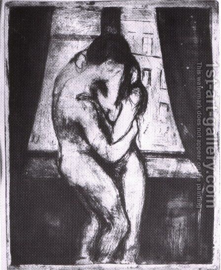 The Kiss 3 by Edvard Munch - Reproduction Oil Painting