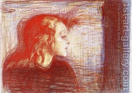 The Sick Child 2 by Edvard Munch - Reproduction Oil Painting