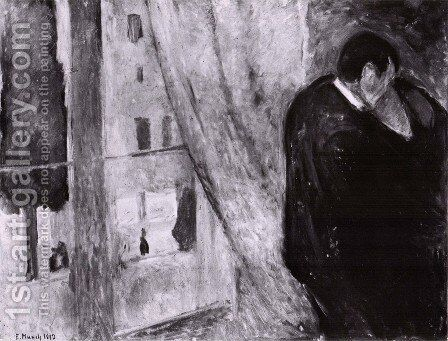 le baiser 1892 by Edvard Munch - Reproduction Oil Painting
