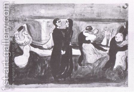 étude pour la danse de la vie 1899 by Edvard Munch - Reproduction Oil Painting