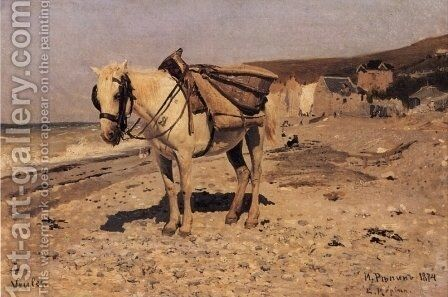 Horse. Viol by Ilya Efimovich Efimovich Repin - Reproduction Oil Painting