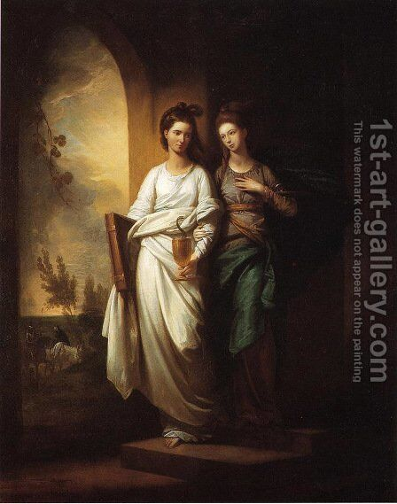 Fidelia and Speranza (1776) by Benjamin West - Reproduction Oil Painting