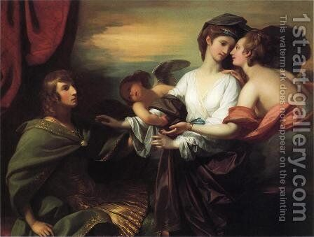 Helen Brought to Paris by Benjamin West - Reproduction Oil Painting