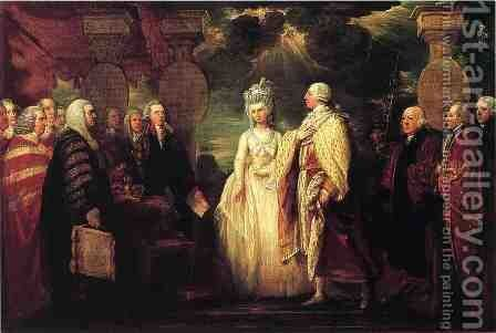 His Majesty George III Resuming Power in 1789 by Benjamin West - Reproduction Oil Painting