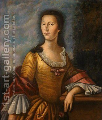 Mary Bethel Boude (Mrs. Samuel Boude) by Benjamin West - Reproduction Oil Painting