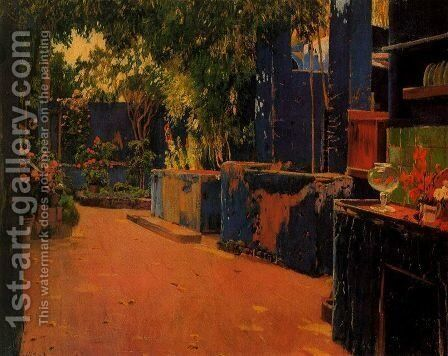 Patio by Santiago Rusinol i Prats - Reproduction Oil Painting