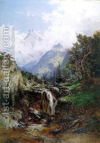 Montañas de Asturias. Picos de Europa by Carlos de Haes - Reproduction Oil Painting