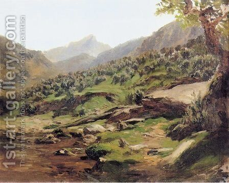 Picos de Europa by Carlos de Haes - Reproduction Oil Painting