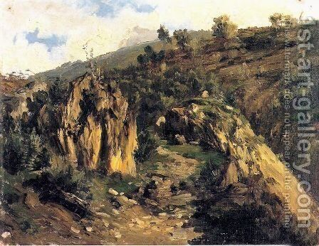 Picos de Europa 4 by Carlos de Haes - Reproduction Oil Painting