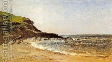 Playa de Guethary by Carlos de Haes - Reproduction Oil Painting