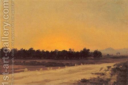 Puesta de sol by Carlos de Haes - Reproduction Oil Painting