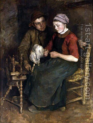Young love by Albert Neuhuys - Reproduction Oil Painting
