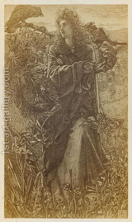 Illustration to 'Harold Harfagr' from 'Once a Week' 1862, vol. VII, p. 154 by Anthony Frederick Sandys - Reproduction Oil Painting