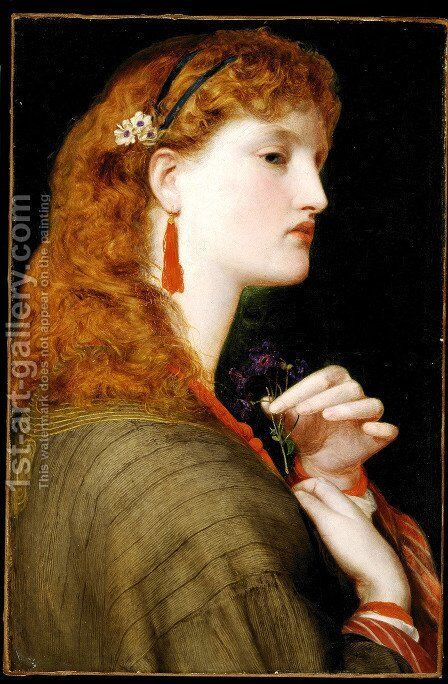 May Margaret by Anthony Frederick Sandys - Reproduction Oil Painting