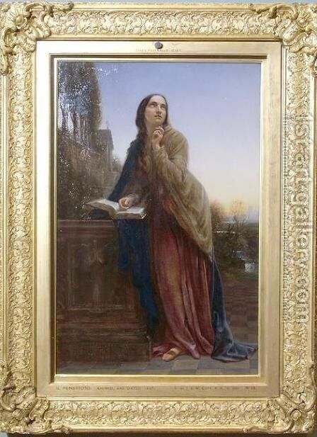 Il Penseroso by Charles West Cope - Reproduction Oil Painting