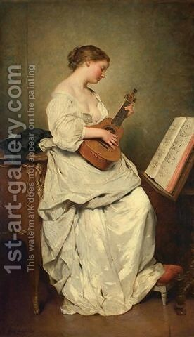 The music girl by Charles Chaplin - Reproduction Oil Painting