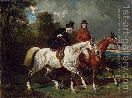 Ride by Alfred Dedreux - Reproduction Oil Painting