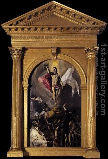 The Resurrection 2 by El Greco - Reproduction Oil Painting