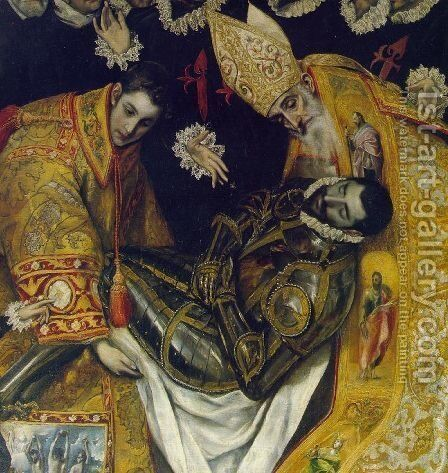 The Burial of Count Orgaz (detail) 2 by El Greco - Reproduction Oil Painting