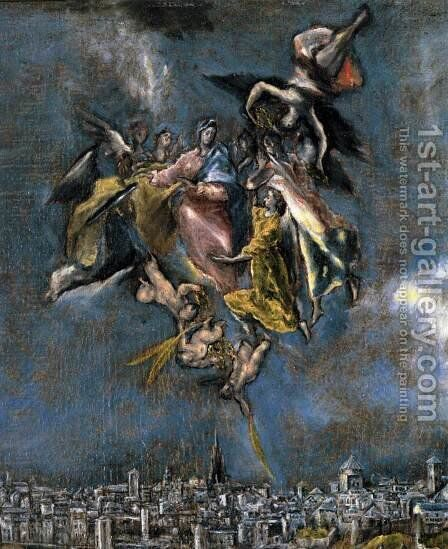 View and Plan of Toledo (detail) by El Greco - Reproduction Oil Painting