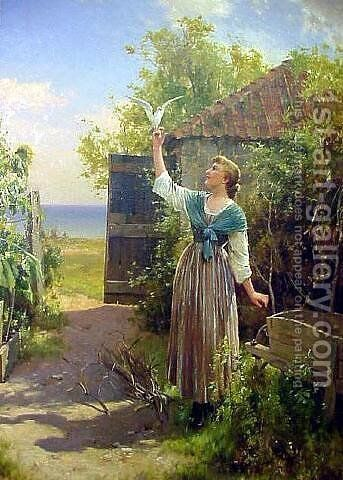 The Dove by Alfred Glendening - Reproduction Oil Painting