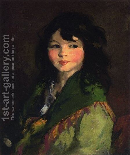 Francine by Robert Henri - Reproduction Oil Painting