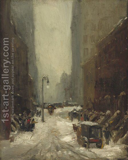 Snow in New York by Robert Henri - Reproduction Oil Painting
