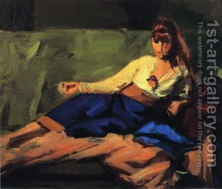 The Lounge (Figure on a Couch) by Robert Henri - Reproduction Oil Painting