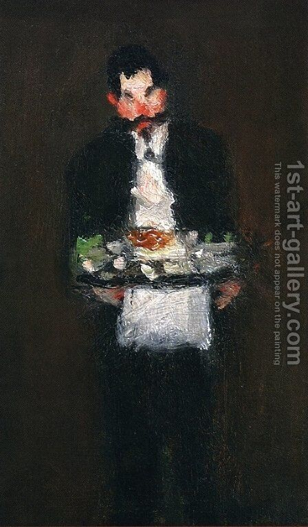 The Waiter by Robert Henri - Reproduction Oil Painting
