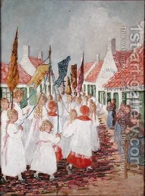 The Easter Parade by Jenny Montigny - Reproduction Oil Painting