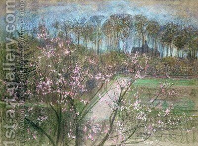 Spring Landscape by Jenny Montigny - Reproduction Oil Painting