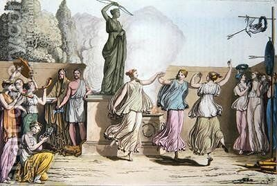 Delian Dance illustration from Le Costume Ancien ou Moderne by (after) Monticelli, Angelo - Reproduction Oil Painting