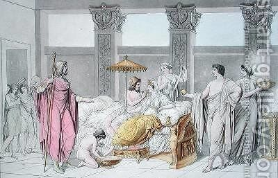 The Wedding of Ulysses and Penelope illustration from Le Costume Ancien ou Moderne by (after) Monticelli, Angelo - Reproduction Oil Painting
