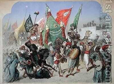 The Return of the Mahmal to Cairo 1870 by Henri de Montaut - Reproduction Oil Painting