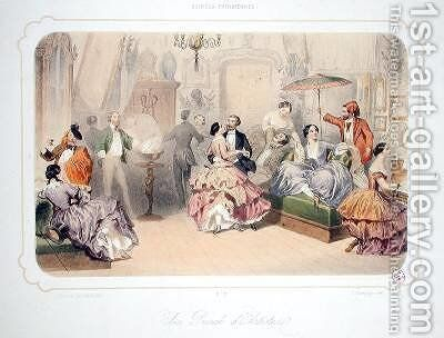 A Punch of Artists from Soirees Parisiennes by Henri de Montaut - Reproduction Oil Painting