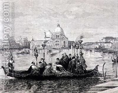 A Burial in Venice from the painting Going to the Campo Santo by Clara Montalba - Reproduction Oil Painting