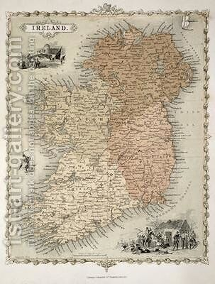 Map of Ireland by C. Montague - Reproduction Oil Painting