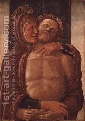 The Virgin with the Dead Christ by Jacopo da Montagnana - Reproduction Oil Painting