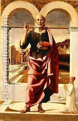 Saint Peter 1505 by Bartolomeo Montagna - Reproduction Oil Painting